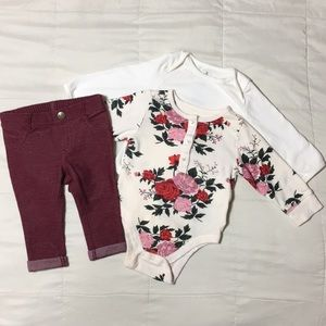 Old Navy baby girl outfit size 3-6 months